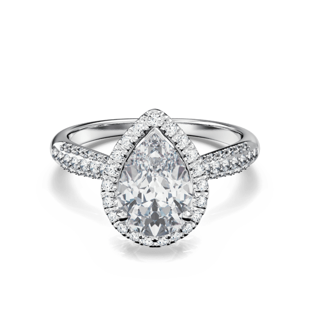 Trinity Micropave Pear Halo